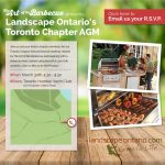 Invite to Landscape Ontario 's Toronto Chapter AGM presented by The Art of the Barbecue