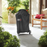 Weber 18 Inch Kettle Grill Cover LIfestyle