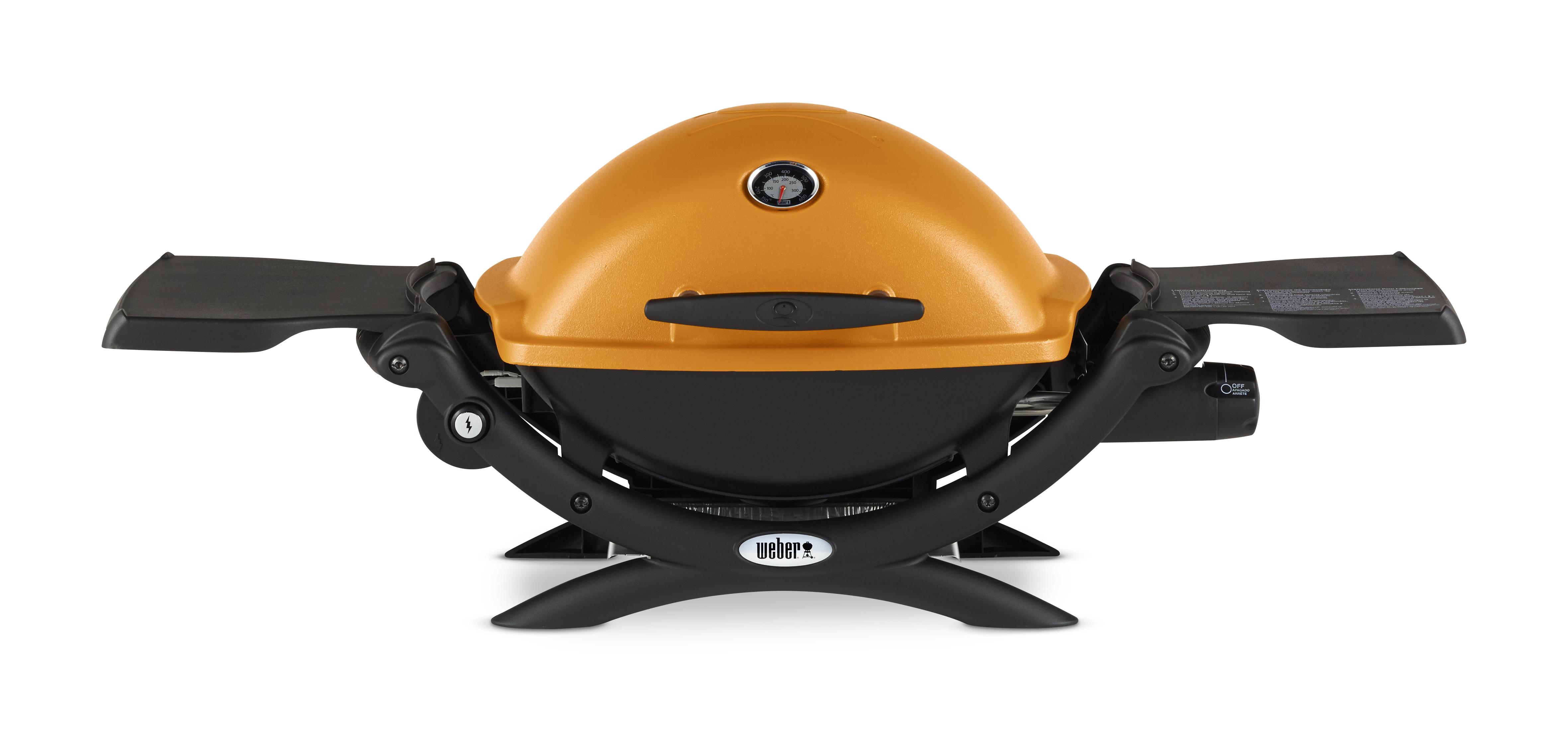 Weber Q 1200 Gas Grill Orange