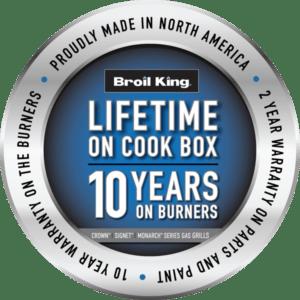 Warranty , Lifetime on Cook Box, 10 Years on Burners