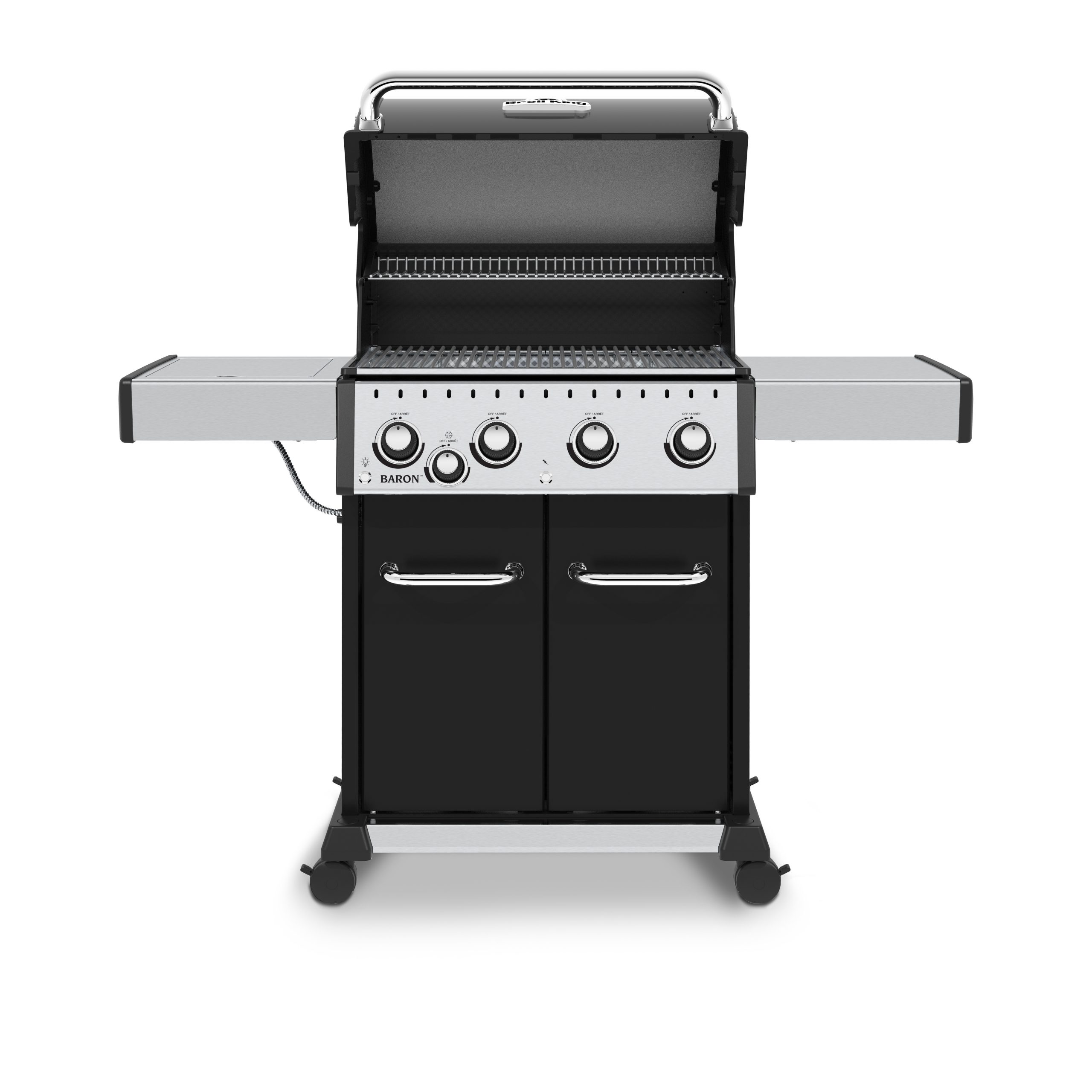 Broil King Baron Front facing with lid open
