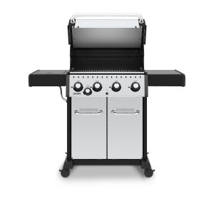 Broil King Crown S440 front with hood up