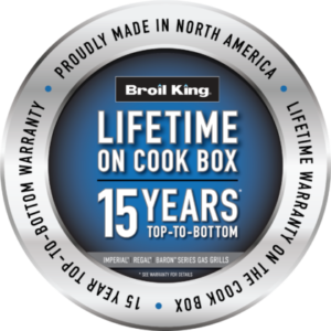 Warranty - Lifetime on Cook Box - 15 Years Top-to-Bottom
